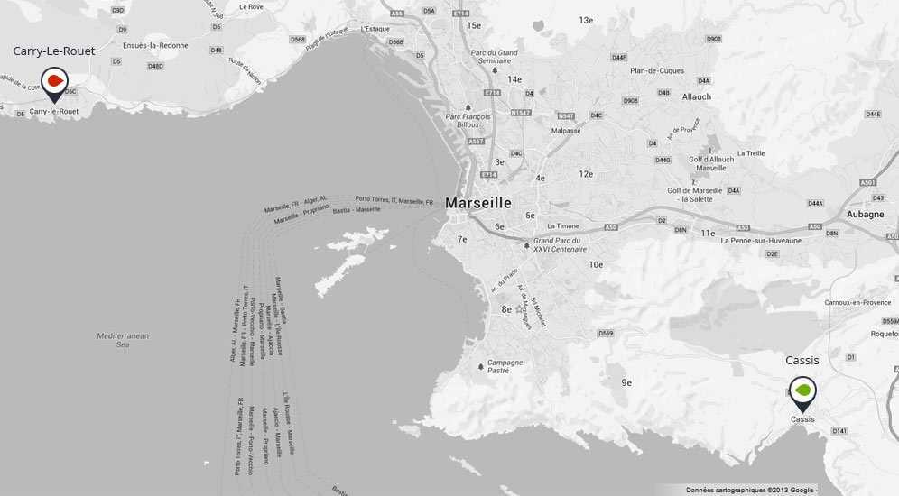 Périmètre de navigation avec les bateau Locabato