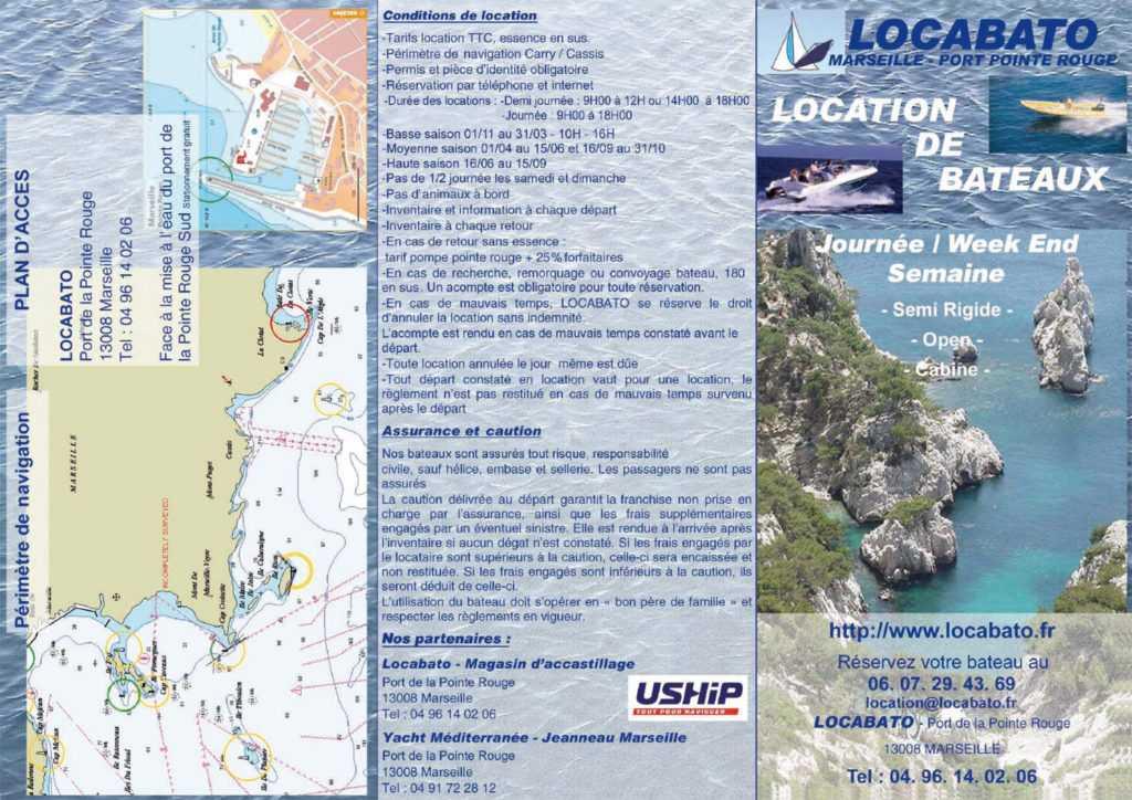 Location de bateau Marseille Pointe Rouge Locabato