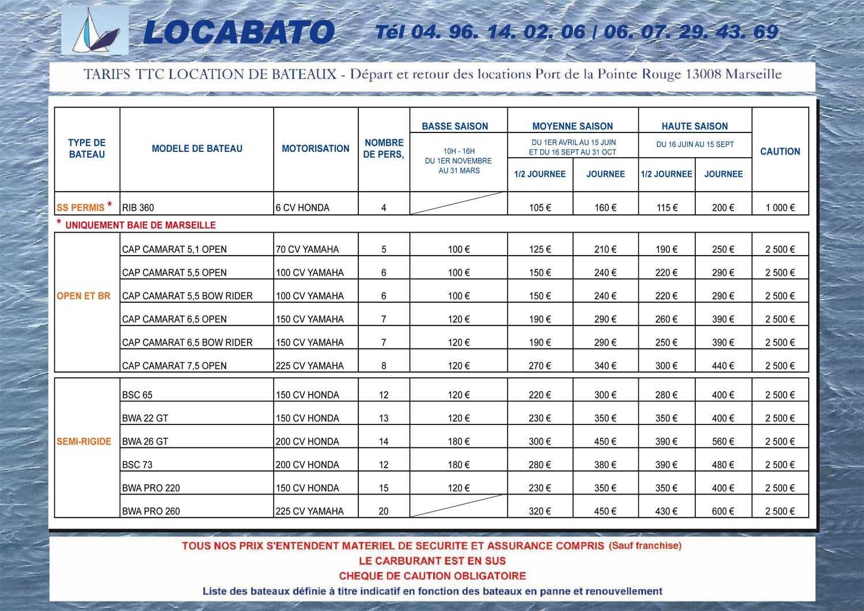 tarifs locations bateaux marseille locabato 2 location de bateau marseille locabato. Black Bedroom Furniture Sets. Home Design Ideas