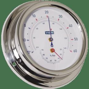 Thermomètre/hygromètre Vion inox High-Sensitiv Ø 125 mm